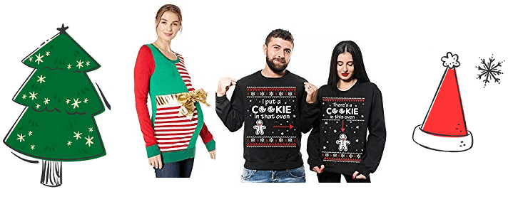 8 Funny Maternity Ugly Christmas Sweater Ideas