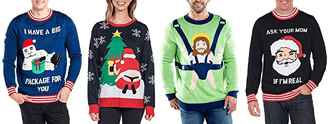 naughty ugly Christmas sweater ideas