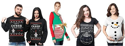 Ugly Christmas Sweater Ideas for pregnancy