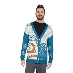 BB-8 Ugly Christmas Sweater, Star Wars droid cardigan, Cute Star Wars Christmas Sweater