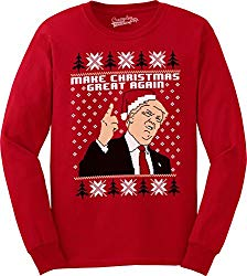 Trump Ugly Christmas Sweaters can be controversial crowd pleasers at some ugly Christmas Sweater parties