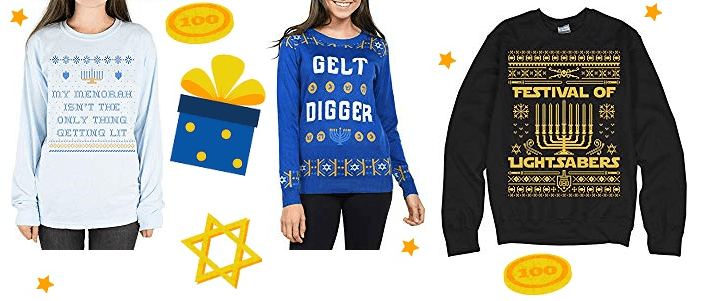 Womens Hanukkah Sweaters