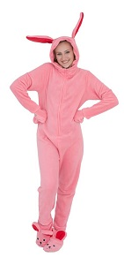 A Christmas Story Pink NIghtmare Bunny Pajamas for women