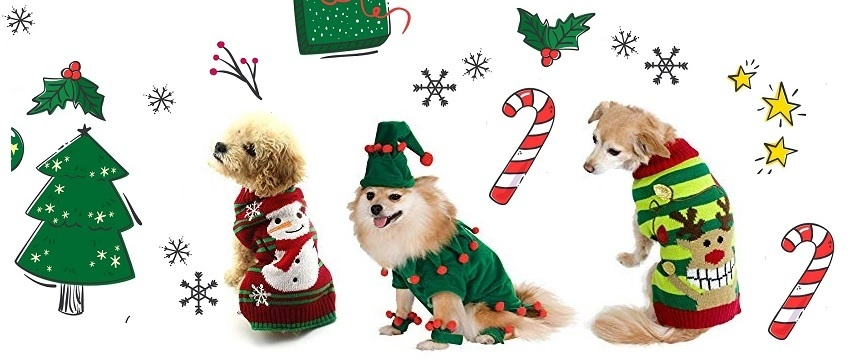 Dog Christmas Sweater Dog Christmas Costumes