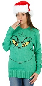 Grinning Grinch Sweater in Green