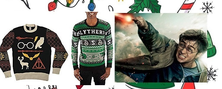 Harry Potter Christmas Sweater SLytherin Gryffindor