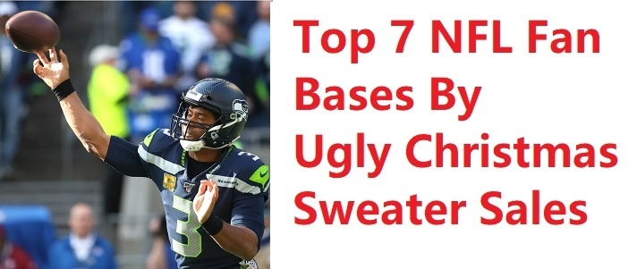 NFL Christmas Sweaters Top Fan Bases by christmas sweater sales