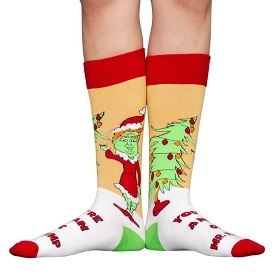 Trump Grinch Socks for Christmas
