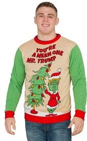 You're a Mean One Mr. Trump, Trump Grinch Sweater. Ugly Christmas Sweater