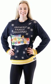 Christmas Vacation Light Up Sweater, Christmas Vacation LED ugly Sweater