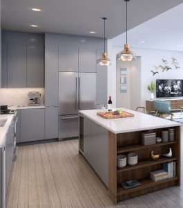 Luxury Kitchen at Luxury Apartment Located by LUX Locators in Dallas TX 1