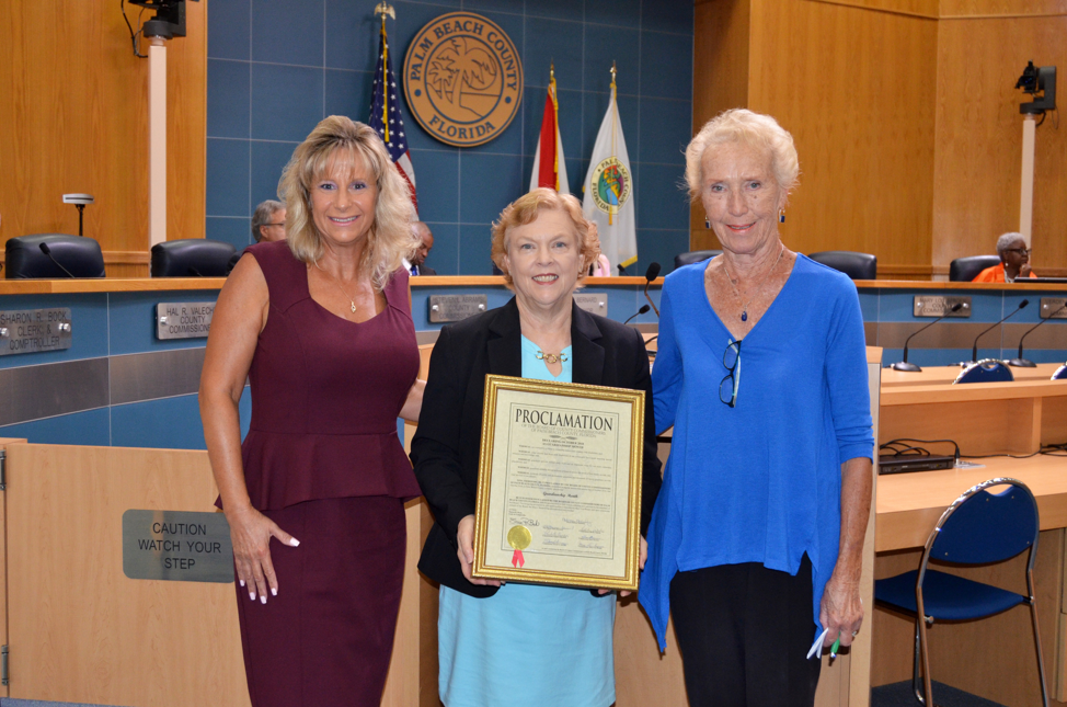 President of Hired Hearts, Inc. Care Management & Guardianship Karen Greene Receives the Proclamation for Guardianship Awareness Month of October 2018