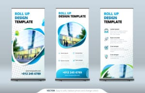 Business Roll Up Trade Show Signs