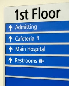 Hospital Directory Signs