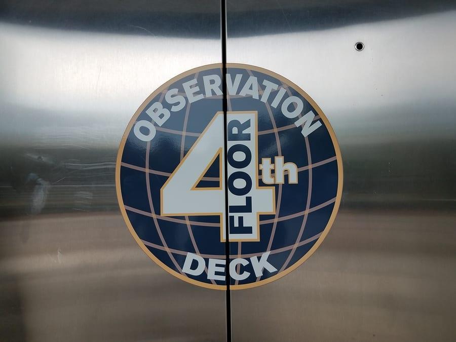 Elevator Doors On Level 1 Floor Of Public Building