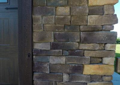 Exterior House Stone Work Closeup