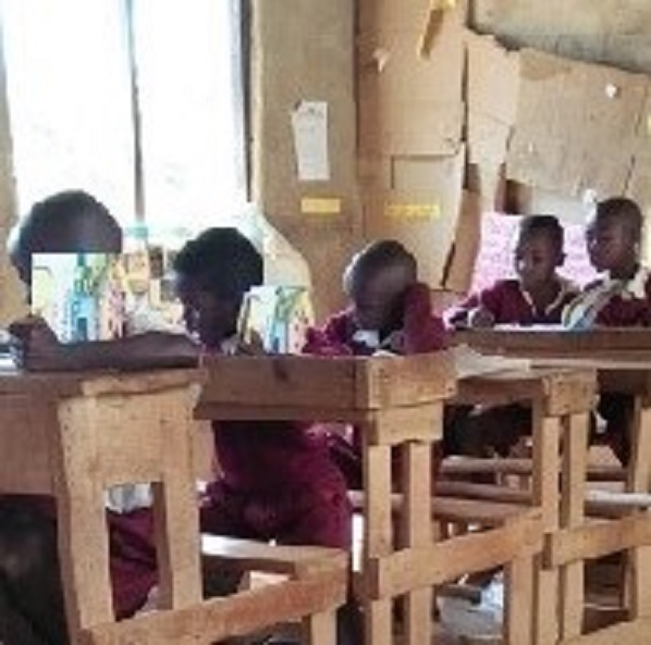 Students at Kwamboo primary studying for their exams