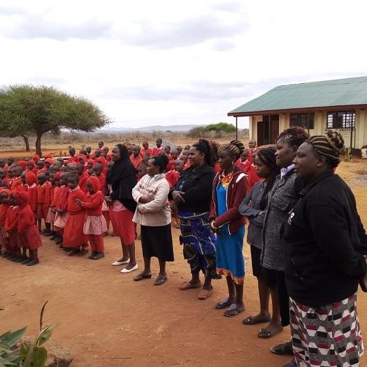 Kongoni students, at the corridors of Tsavo national park