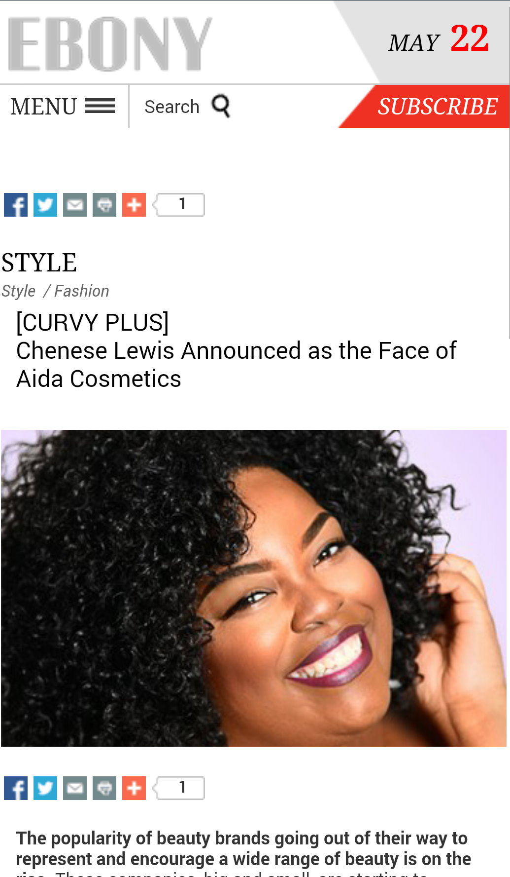 Ebony Aida Cosmetics