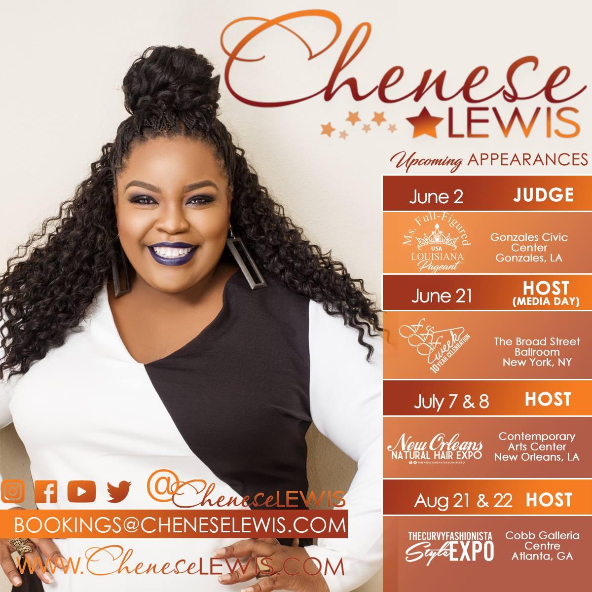 Chenese Lewis Schedule