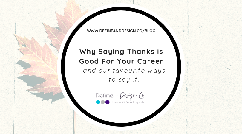Why Saying Thanks is Good For Your Career