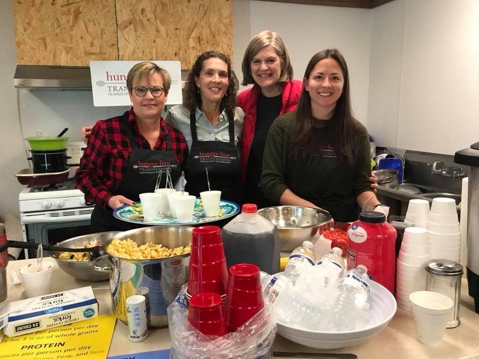 Beth, Gail, Barbara, Bella Gods way cooking class