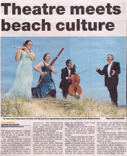 Bleach Festival article in Gold Coast Bulletin