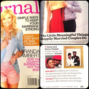 Rufus and Jenny Triplett Talking about Happy Marriages in the July/Aug 2014 Issue of the Ladies Home Journal