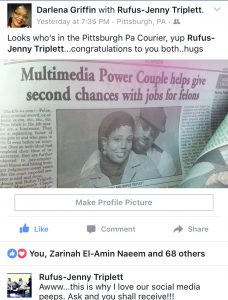 Pittsburgh Courier, Surviving Parenting, jenny triplett, parenting advice, rufus triplett, jobs for felons, surviving parenting in the 21st century, power couple
