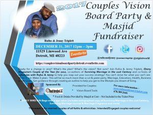 Couples, Vision Board Party, Masjid Wali Muhammad, Detroit, Michigan, Jenny Triplett, Rufus Triplett