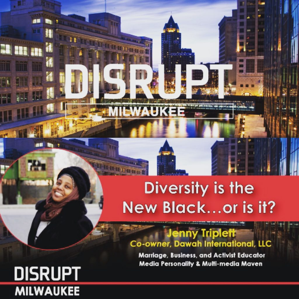 disrupt milwaukee, disrupt charlotte, rufus and jenny, jenny triplett, jenny going in with diversity, rufus and jenny do human resources