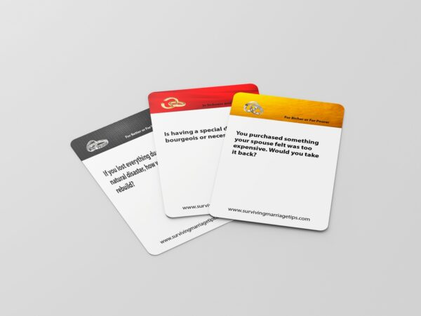 Surviving Marriage Card Game Cards