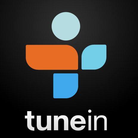 Tunein logo on rufus and jenny triplett.com