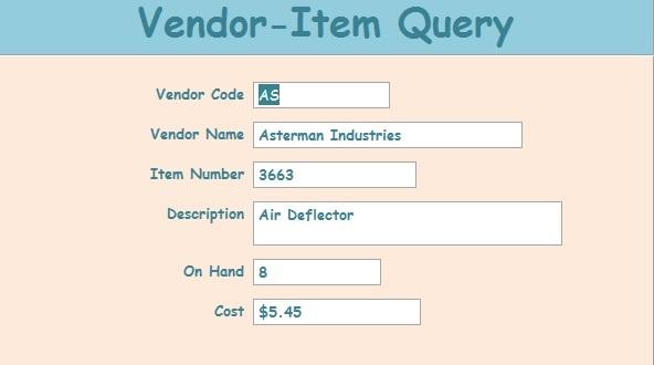 Screenshot_VendorItemQueryForm