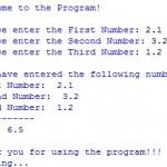 Screenshot: Program2