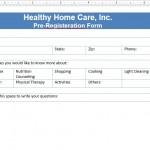 Screenshot: Registeration Form