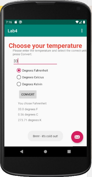 Lab 7: Temperature