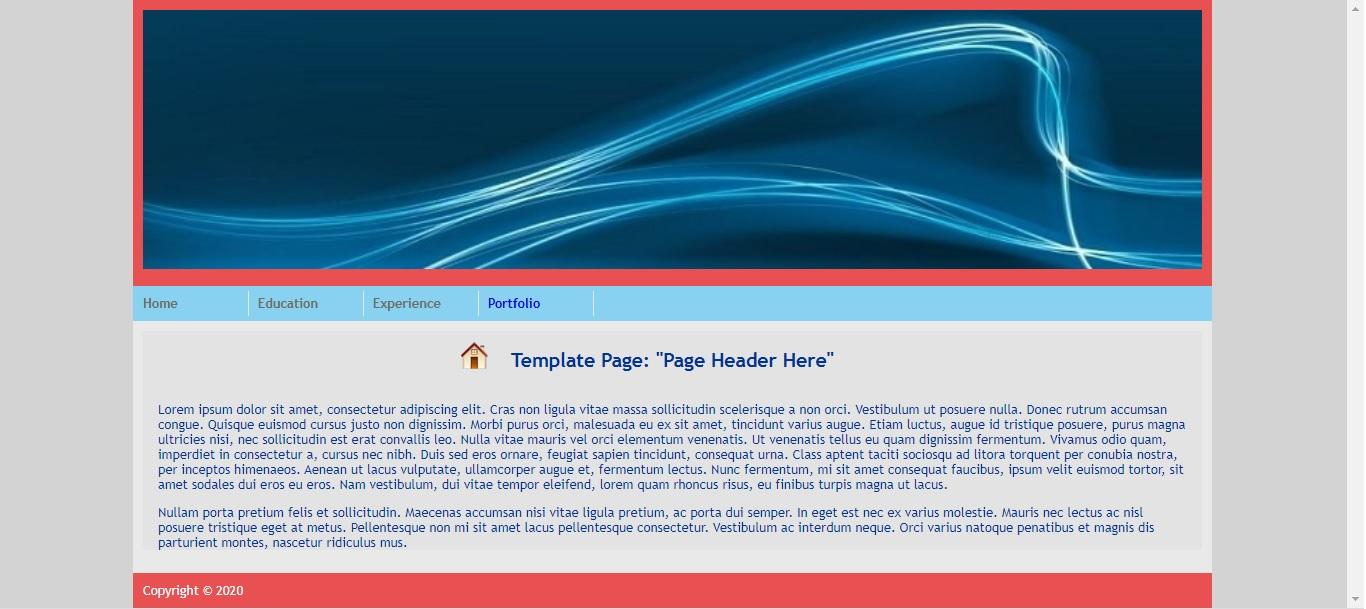 Lab 3: Master Page