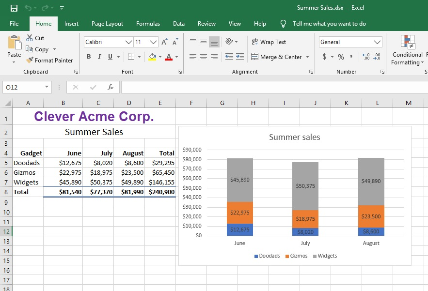 584807: Excel output