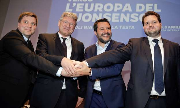 Right-wing parties in Germany, Denmark, and Finland all join Salvini's National Populist 'Supergroup'