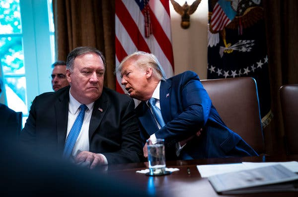 Pompeo Says No Sign of Iran Loosening Its Aggressive Stance