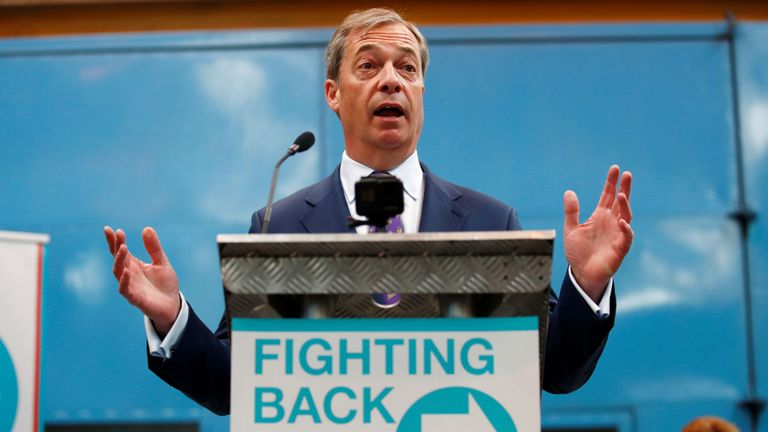 Poll: Nigel Farage's Brexit Party most trusted by British public