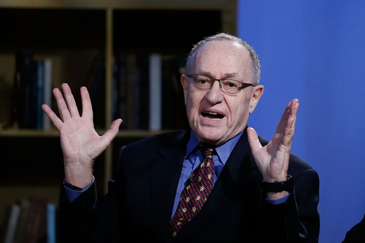 Dershowitz Says That There's No There, There