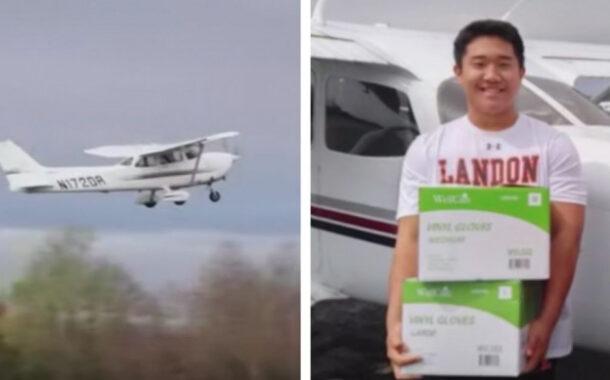 16-year-old pilot flies coronavirus supplies to hospitals in rural Virginia