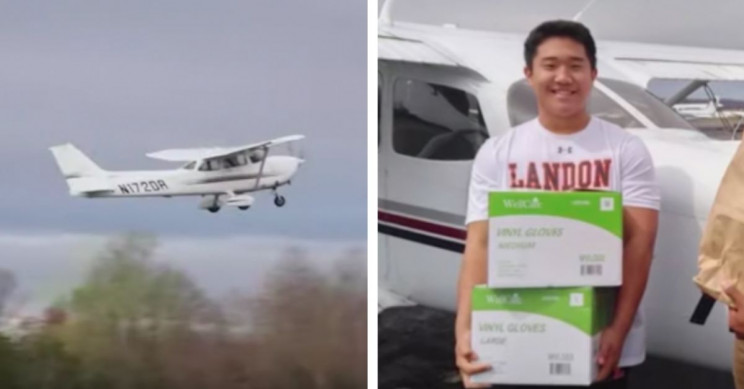 16-year-old pilot flies coronavirus supplies to hospitals in rural Virginia