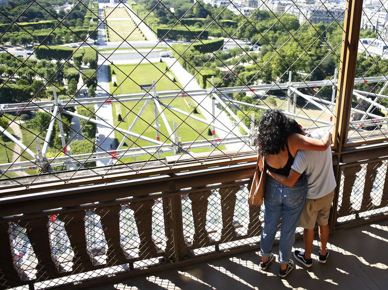 Eiffel Tower Reopens In Paris After A 3-Month Shutdown