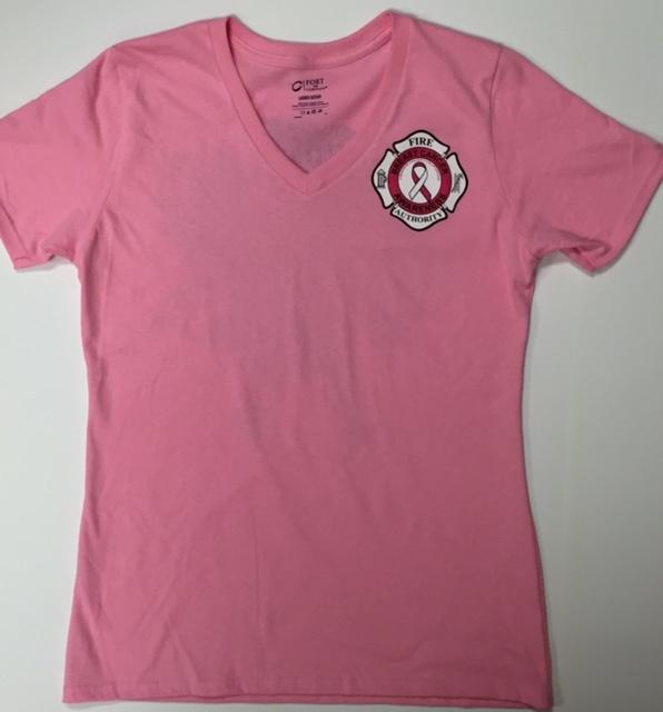 Breast Cancer Awareness Shirt Women's V-Neck Cut