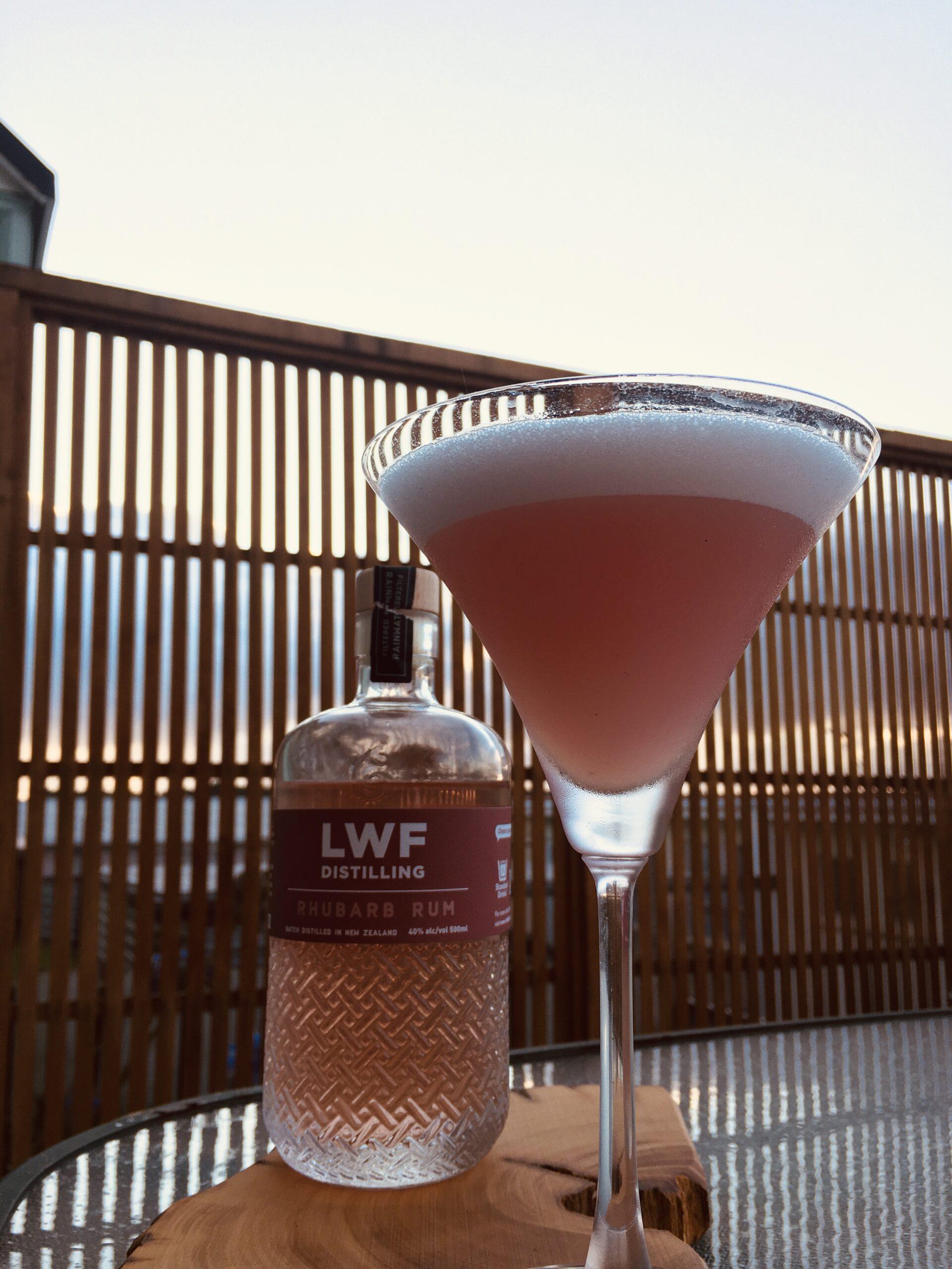 Rhubarb Rum Cocktail
