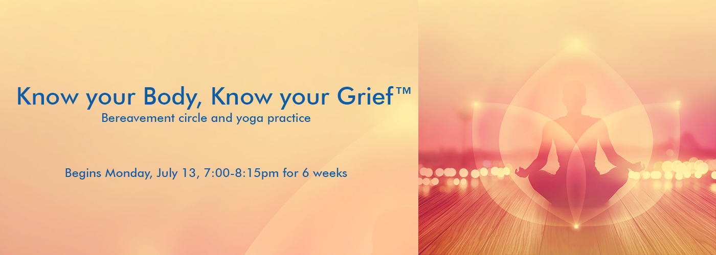 grief and yoga announcement