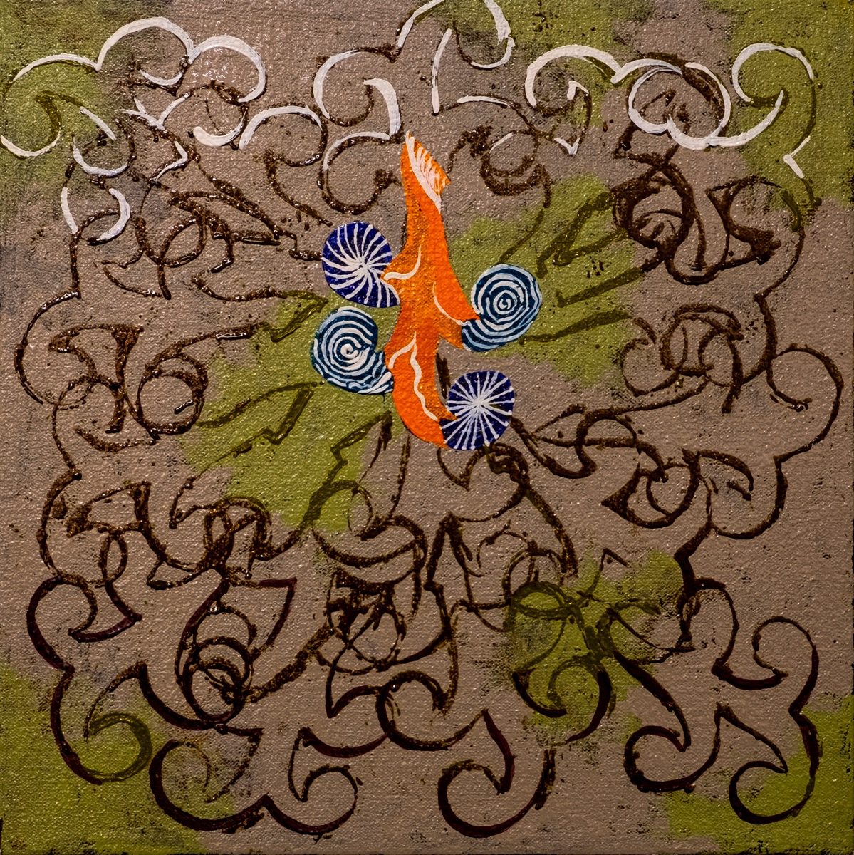 "Small Creature Series 12"" x 12"" Oil on Canvas REF # 2019/11"